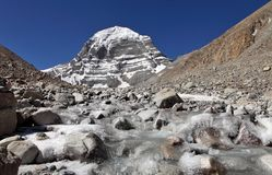 Mount Kailash in Tibet Royalty Free Stock Image