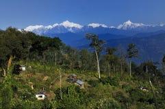 Mount Kanchanjunga range. View from Silerygaon village, Sikkim Stock Images