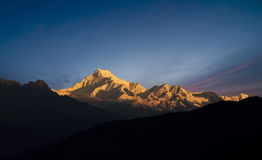 Mount Kanchenjunga Royalty Free Stock Images
