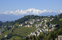Mount Kanchenjunga and Darjeeling Stock Image