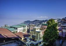 Mount Kanchenjunga and Darjeeling Stock Photos