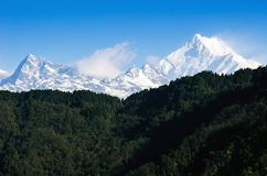 Mount Kanchenjunga range of the himalayas at first light Stock Photography