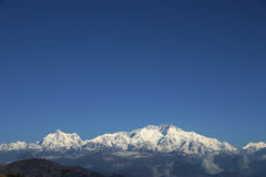 Mount Kangchenjunga, Himalayans Royalty Free Stock Photos