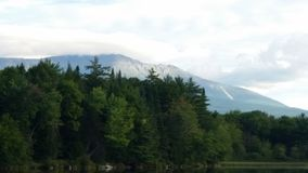 Mount Katahdin in maine. Photo taken while fishing in maine Royalty Free Stock Image