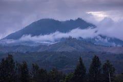 Mount Kawah Ijen volcano sunrise in East Java, Indonesia. Stock Images