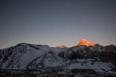 Mount Kazbeg and the Caucasus Royalty Free Stock Photo