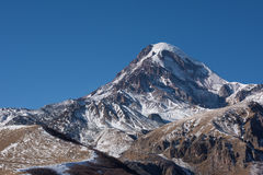 Mount Kazbeg and the Caucasus Stock Images