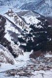 Mount Kazbeg and the Caucasus Stock Photos