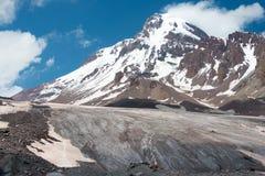 Free Mount Kazbek 5047m At Gergeti Glacier. A Famous Landscape In Kazbegi, Mtskheta-Mtianeti, Georgia Royalty Free Stock Photos - 189205498
