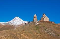 Free Mount Kazbek And Trinity Monastery, Georgia Royalty Free Stock Images - 23469449