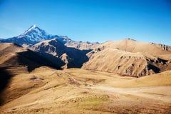 Mount Kazbek in the Caucasian mountains Stock Image