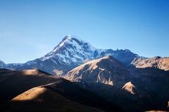 Mount Kazbek in the Caucasian mountains Stock Images