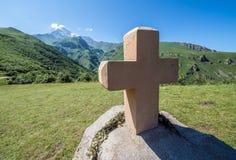 Mount Kazbek in Georgia Stock Photo