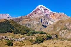 Mount Kazbek, Georgia Royalty Free Stock Photography