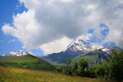 Mount Kazbek (Georgia) Stock Photo