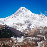 Mount Kazbek in Georgia Royalty Free Stock Photos