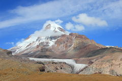 Mount Kazbek (Mkinvartsveri) (Georgia) Stock Image