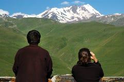 Mount Kazbek at spring Royalty Free Stock Images