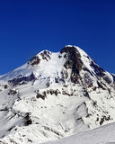 Mount Kazbek at sun winter day Stock Images