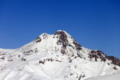 Mount Kazbek in winter Royalty Free Stock Image