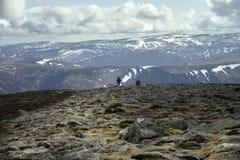 Mount Keen summit. Cairngorm Mountains, Aberdeenshire, Scotland. UK stock photography