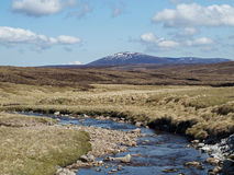 Mount Keen from the water of Mark. Scotland south east Cairngorms in may Stock Photos