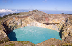 Mount Kelimutu, Indonesia Royalty Free Stock Photography