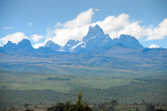 Mount kenya. Is the second highest mountain in kenya Royalty Free Stock Photos