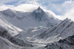 Mount Khangsar Kang (Roc Noir), Annapurna range Royalty Free Stock Image