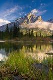 Mount Kidd in Kananaskis, Alberta at sunrise Royalty Free Stock Image