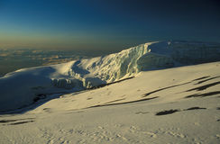 Mount Kilimanjaro. Glacier on top of Mount Kilimanjaro, Tanzania, Africa Stock Photos