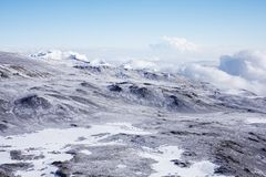 Mount Kilimanjaro, Ashpit And Northern Icefield Stock Photo