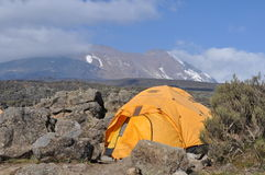Mount Kilimanjaro base camp Royalty Free Stock Photography