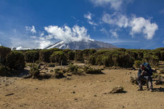 Mount Kilimanjaro climb Stock Photos