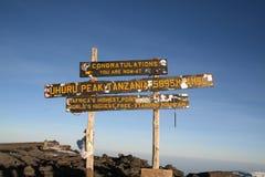 Mount kilimanjaro Stock Image
