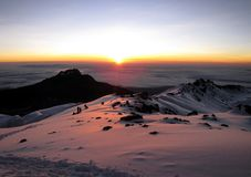 Mount Kilimanjaro - the highest mountain in Tanzania and Africa. Mount Kilimanjaro - the highest mountain in Tanzania, Africa stock images