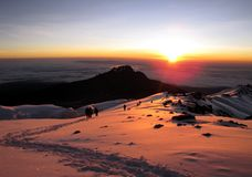 Mount Kilimanjaro - the highest mountain in Tanzania and Africa. Mount Kilimanjaro - the highest mountain in Tanzania, Africa stock image