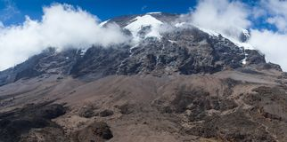 Mount Kilimanjaro - the highest mountain in Tanzania and Africa. Mount Kilimanjaro - the highest mountain in Tanzania, Africa royalty free stock image
