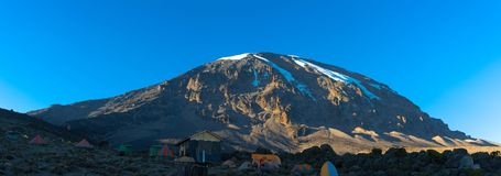 Mount Kilimanjaro - the highest mountain in Tanzania and Africa. Mount Kilimanjaro - the highest mountain in Tanzania, Africa royalty free stock photo