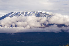 Mount Kilimanjaro. Highest mountain in Africa Royalty Free Stock Images