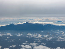 Mount Kilimanjaro seen from a plane Royalty Free Stock Images