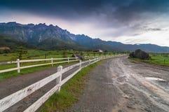Mount Kinabalu от молочных ферм стоковые фотографии rf