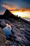 Mount Kinabalu. Near Low's Peak, about 3900m. This is sunrise Royalty Free Stock Photos