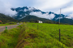 Mount Kinabalu from dairy farms Royalty Free Stock Images