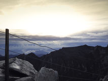 Mount Kinabalu. Malay: Gunung Kinabalu is a mountain in Sabah, Malaysia. It is protected as Kinabalu Park, a World Heritage Site Royalty Free Stock Photo