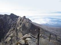 Mount Kinabalu. Malay: Gunung Kinabalu is a mountain in Sabah, Malaysia. It is protected as Kinabalu Park, a World Heritage Site. Kinabalu is the highest peak Stock Image