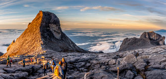 Mount Kinabalu. Near Low's Peak, about 3900m. This is sunrise Stock Photo