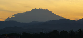 Mount Kinabalu, Sabah, Malaysia. Sun Rise Mount Kinabalu Highest Mountain in South East Asia Royalty Free Stock Images