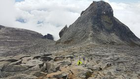 Mount Kinabalu sikt Arkivbild