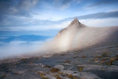 Mount Kinabalu Summit. Low's Peak on Mount Kinabalu, highest mountain of Malaysia Stock Photo